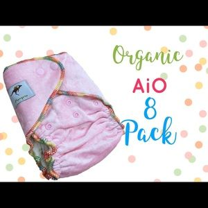 AiO Fitted Organic Cotton Diapers